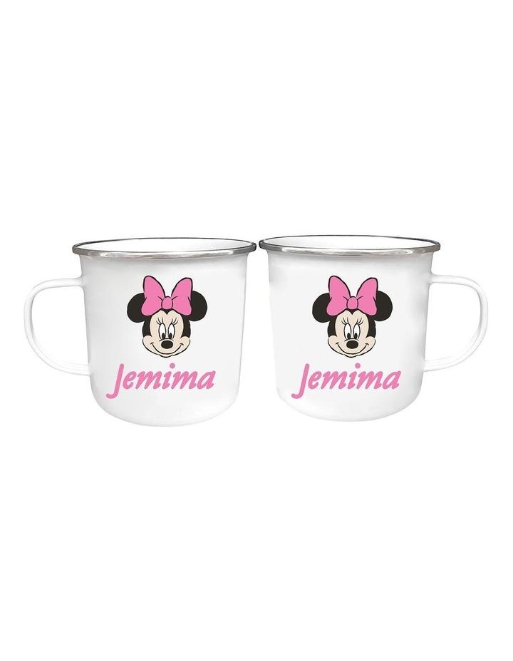 Personalised Minnie Mouse Classic Enamel Mug image 1