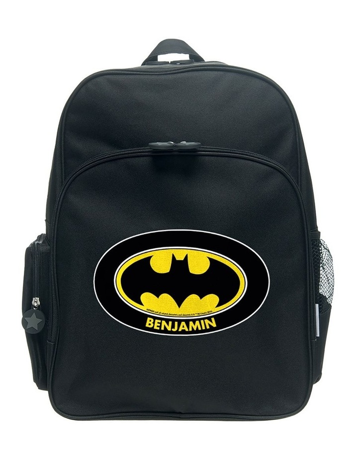 Personalised Batman Logo Large Backpack image 1