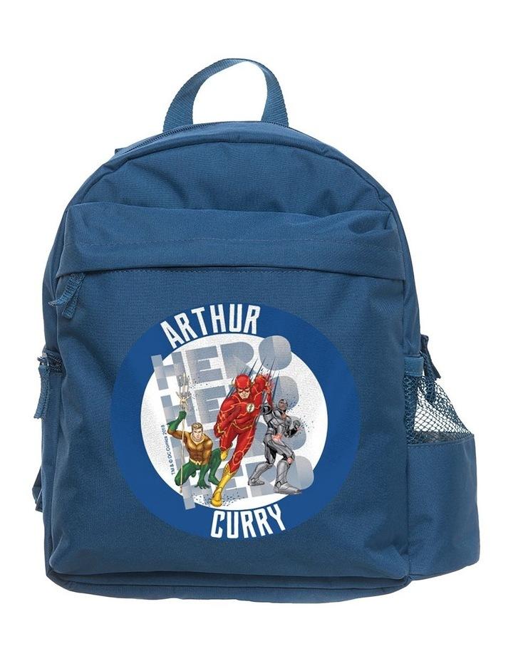 Personalised Justice League Flash Medium Navy Backpack image 1
