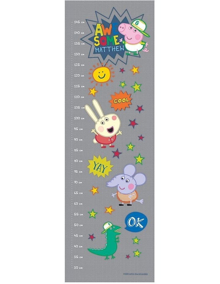 Personalised Peppa Pig Awesome George Growth Chart image 1