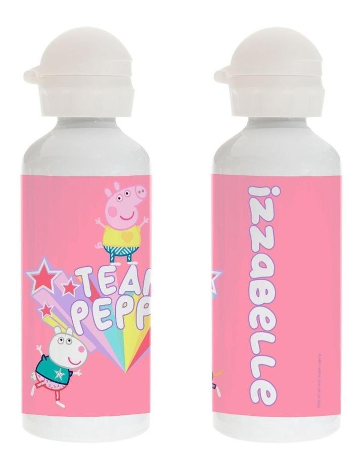 Personalised Peppa Pig Team Peppa Drink Bottle image 1