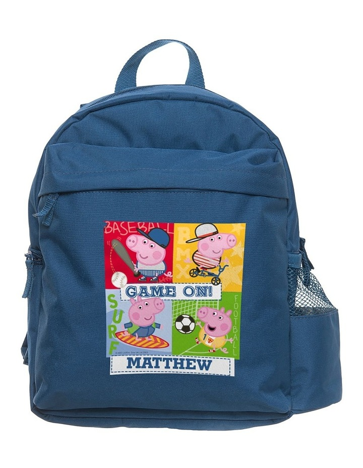 Personalised Peppa Pig Game On George Medium Navy Backpack image 1