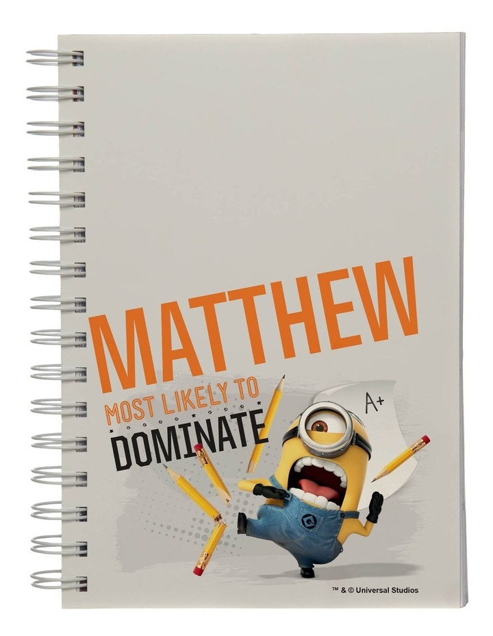 Personalised Despicable Me Most Likely to Dominate A5 Notebook image 1