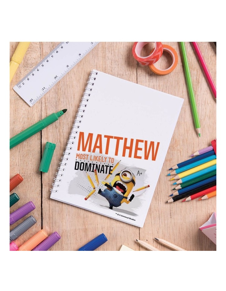 Personalised Despicable Me Most Likely to Dominate A5 Notebook image 4