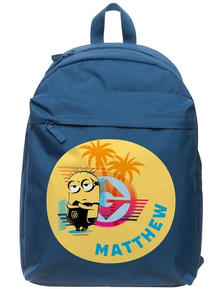 Personalised Despicable Me 3 Tropical Large Navy Backpack image 1
