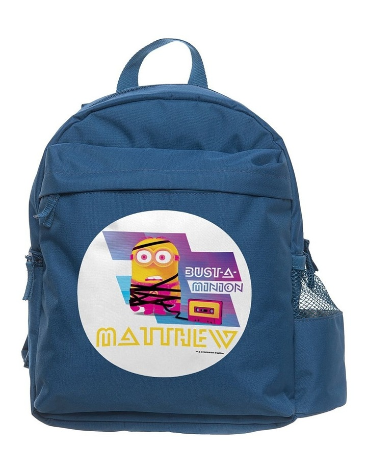 Personalised Despicable Me 3 Bust a Minion Medium Navy Backpack image 1