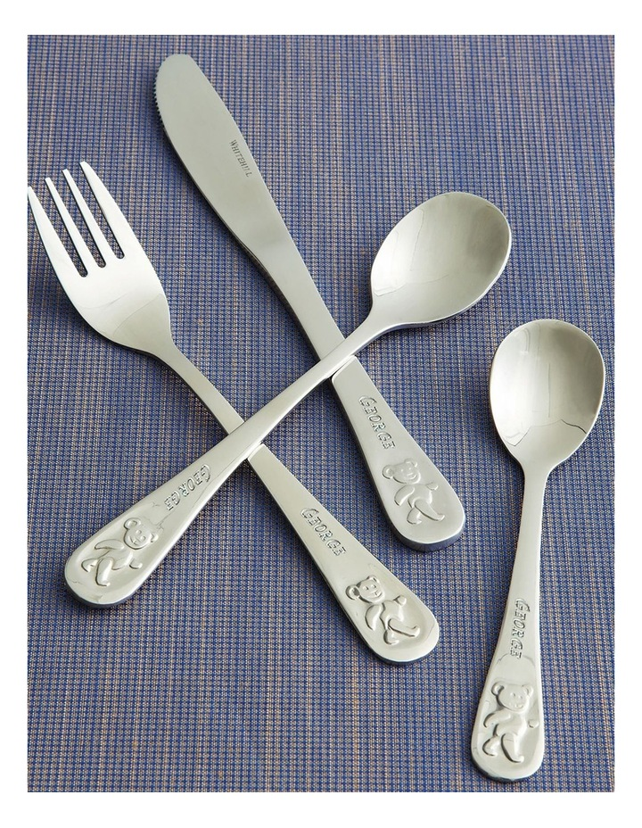 Personalised Teddy's Table Engraved Cutlery Set image 2