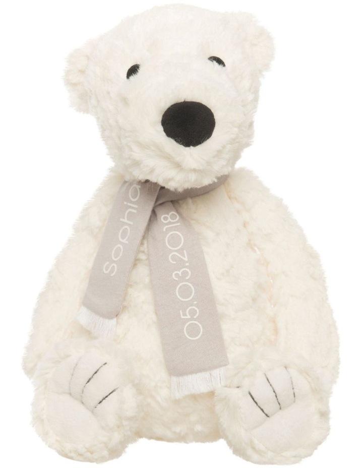 Personalised Plush Polar Bear with Scarf image 1