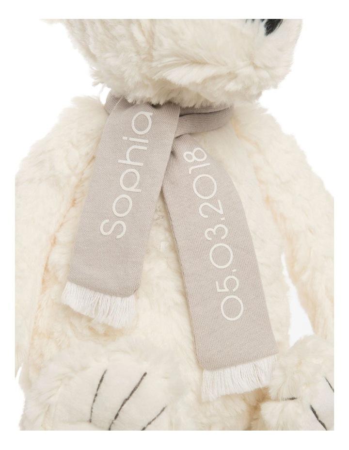 Personalised Plush Polar Bear with Scarf image 2