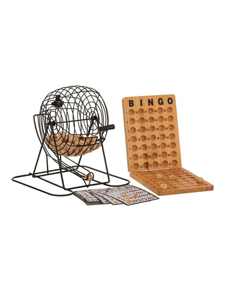 Bingo 75 Player Set With Metal Cage & Wooden Scoreboard image 1