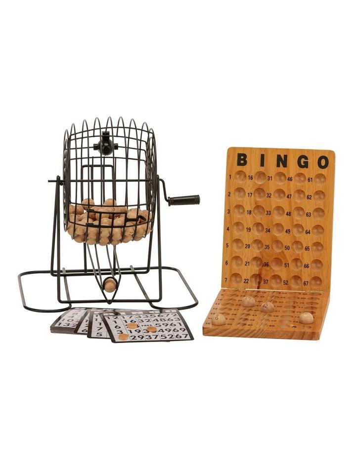 Bingo 75 Player Set With Metal Cage & Wooden Scoreboard image 2