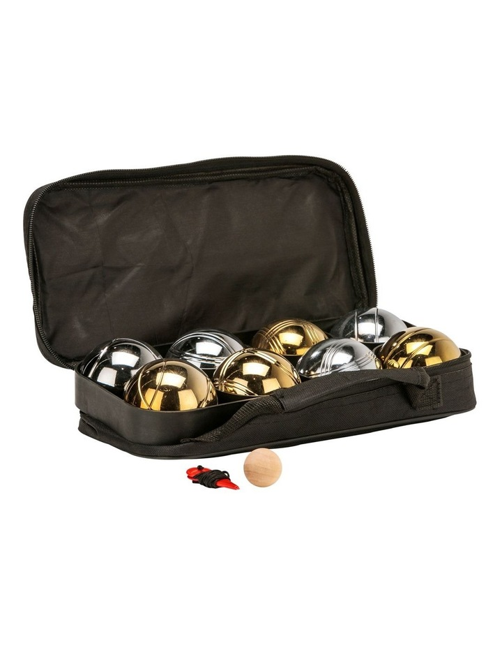 Deluxe 8 Metal Bowls Bocce/Petanque Game Set Gold & Silver image 1