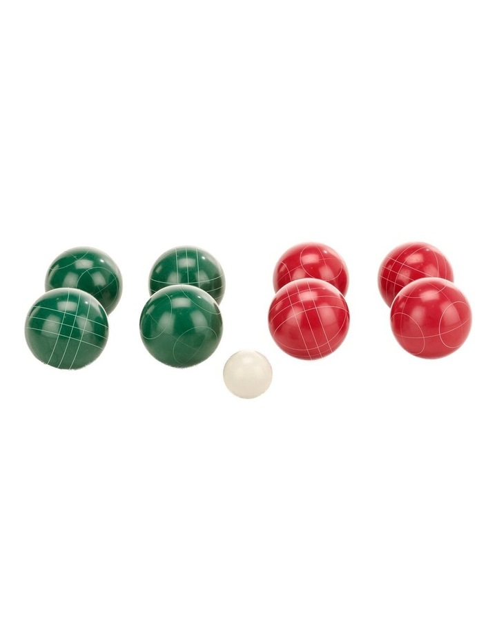 Deluxe 8 Resin Bowls Bocce Game Set Red & Green image 2