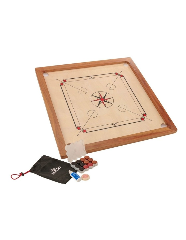 84x84cm Plywood Carrom Board with 74x74cm Internal Playing Area image 1