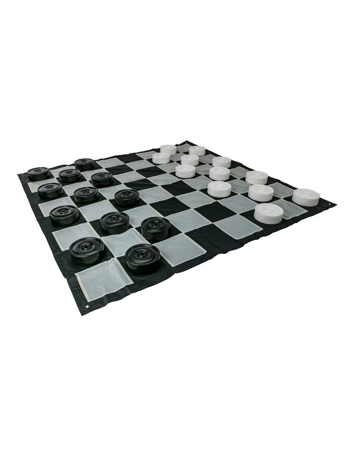 Giant Size Outdoor Draughts Checkers Game Set w/Mat 3x3m image 2