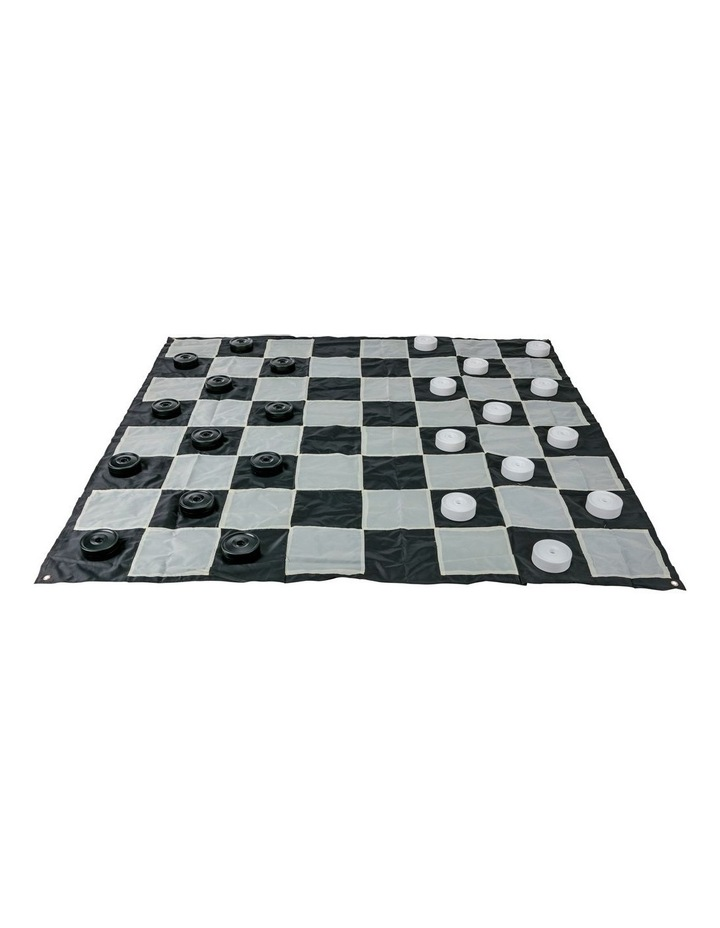 Giant Size Plastic Outdoor Checkers Game Set w/Mat 1.5x1.5m image 2