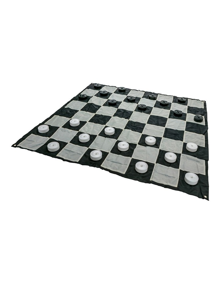 Giant Size Plastic Outdoor Checkers Game Set w/Mat 1.5x1.5m image 3