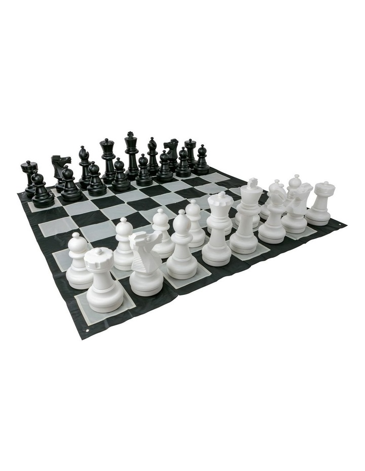Giant Size Plastic Outdoor Chess Game Set w/Mat 3x3m image 1