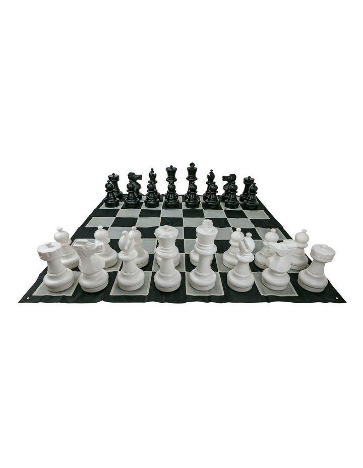 Giant Size Plastic Outdoor Chess Game Set w/Mat 3x3m image 2