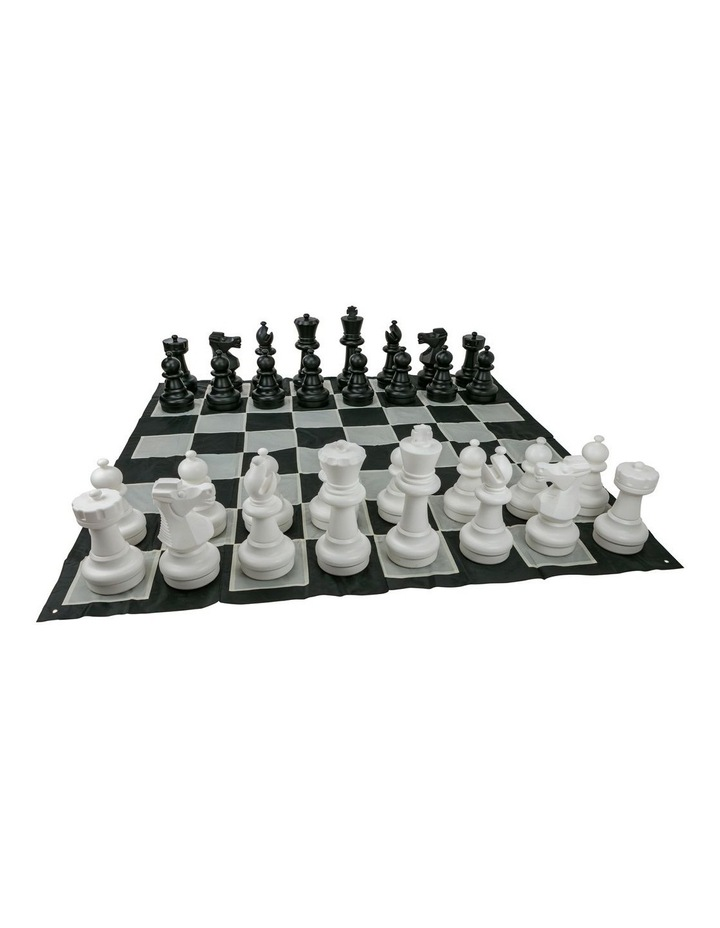 Giant Size Plastic Outdoor Chess Game Set w/Mat 3x3m image 3