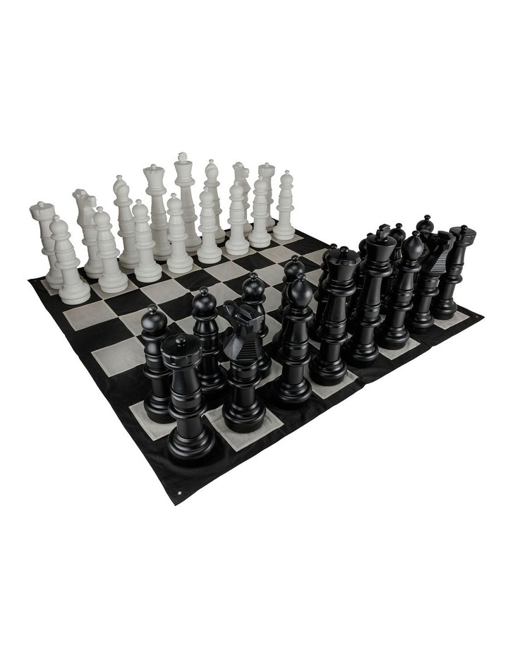 Gigantic Size Plastic Outdoor Chess Game Set w/Mat 3x3m image 1