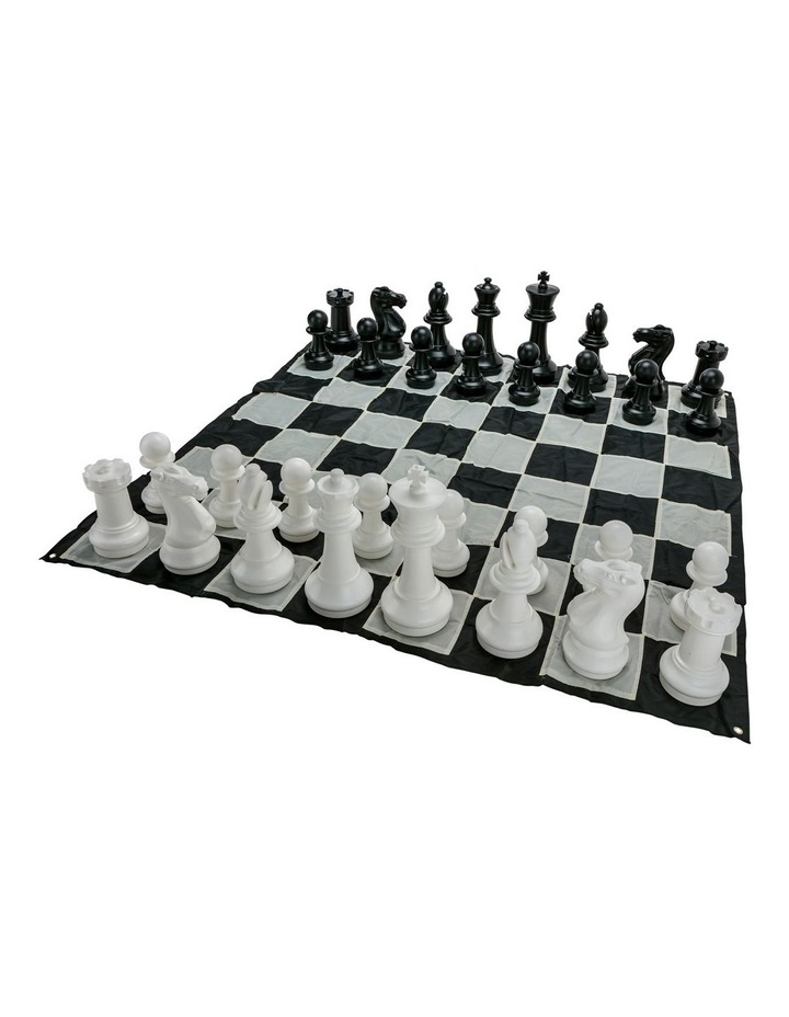 Giant Size Plastic Outdoor Chess Game Set w/Mat 1.5x1.5m image 2