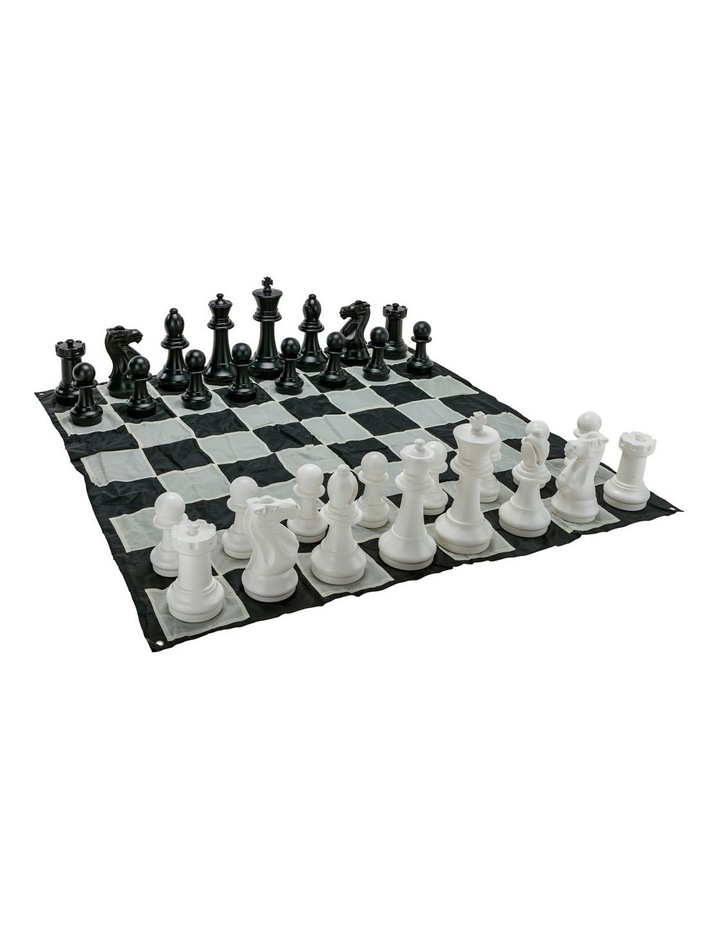 Giant Size Plastic Outdoor Chess Game Set w/Mat 1.5x1.5m image 3