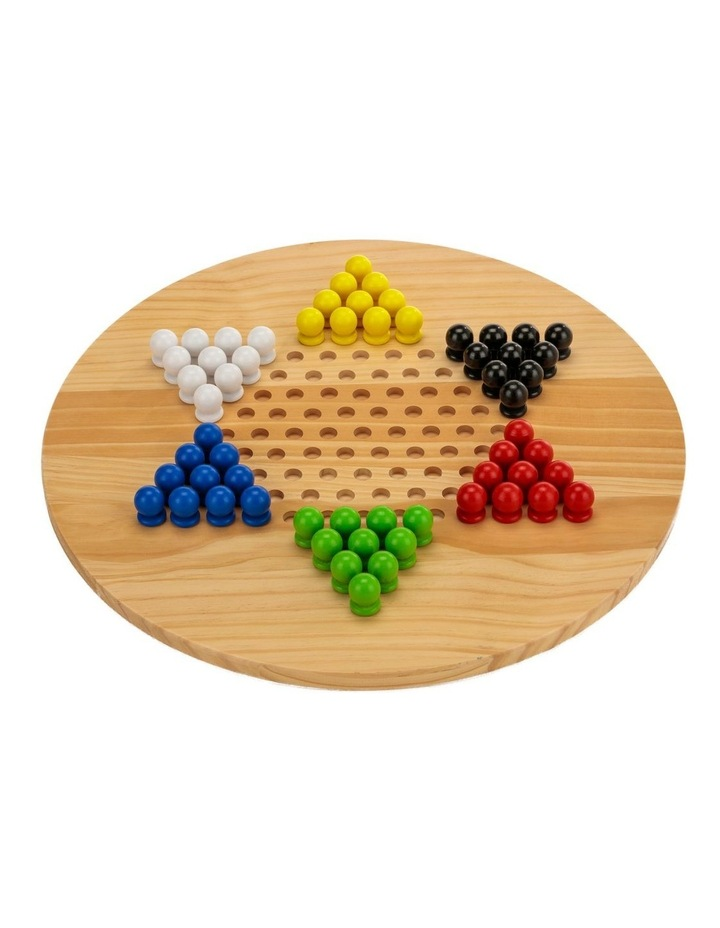 Wooden Giant Chinese Checkers  & Solitare Game 60cm Diameter image 1