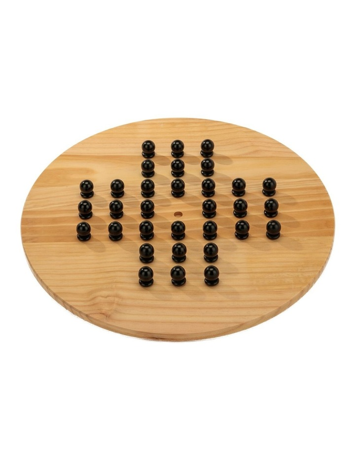 Wooden Giant Chinese Checkers  & Solitare Game 60cm Diameter image 2