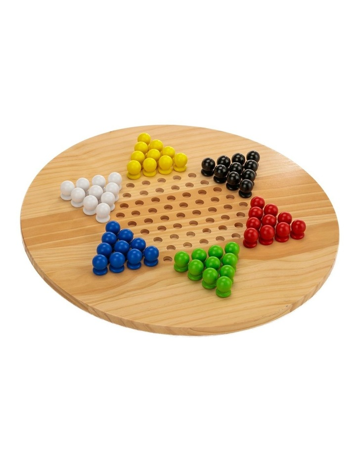 Wooden Giant Chinese Checkers  & Solitare Game 60cm Diameter image 3