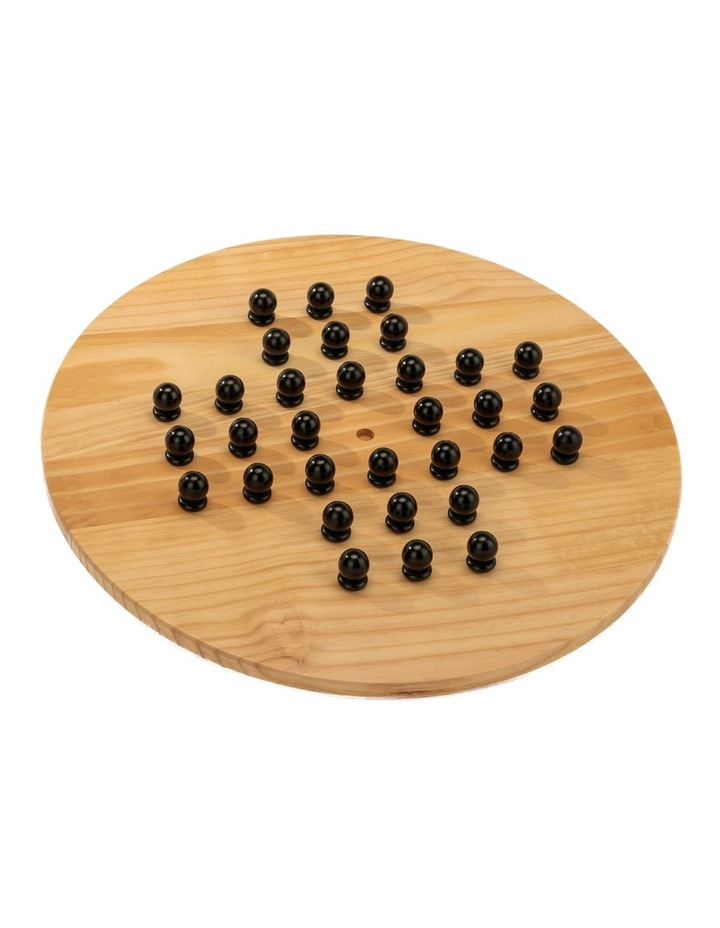 Wooden Giant Chinese Checkers  & Solitare Game 60cm Diameter image 4