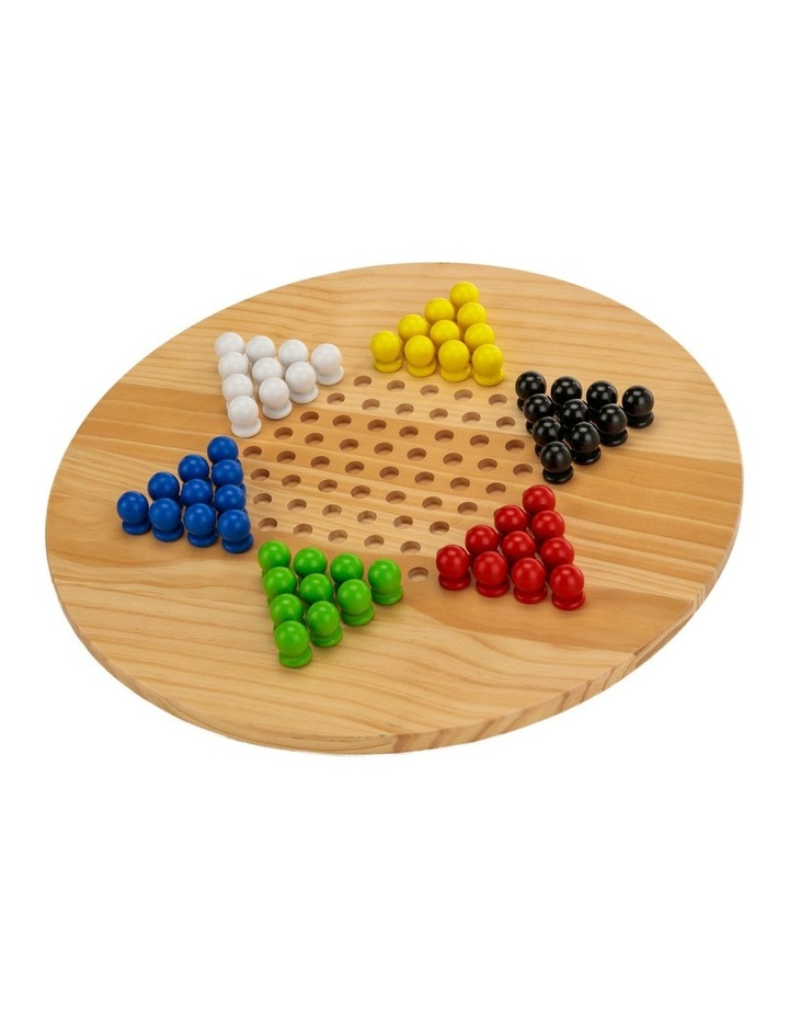 Wooden Giant Chinese Checkers  & Solitare Game 60cm Diameter image 5