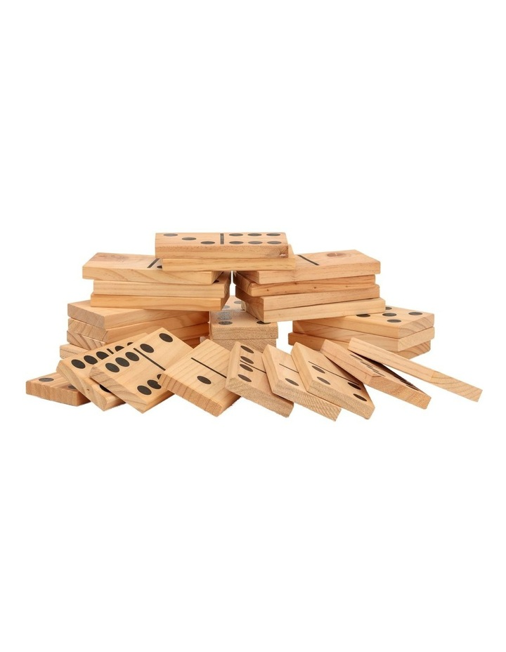 Giant Outdoor Dominoes Game Set with 28 Pieces 15cm image 1