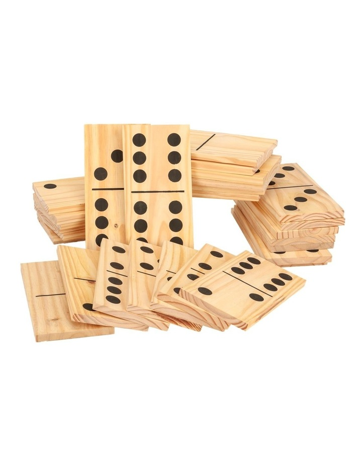 Mega Outdoor Dominoes Game Set with 28 Pieces 30cm image 1