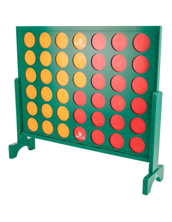 Wooden Indoor Outdoor Giant Connect Four In A Row Game Set 120x109cm Green image 1