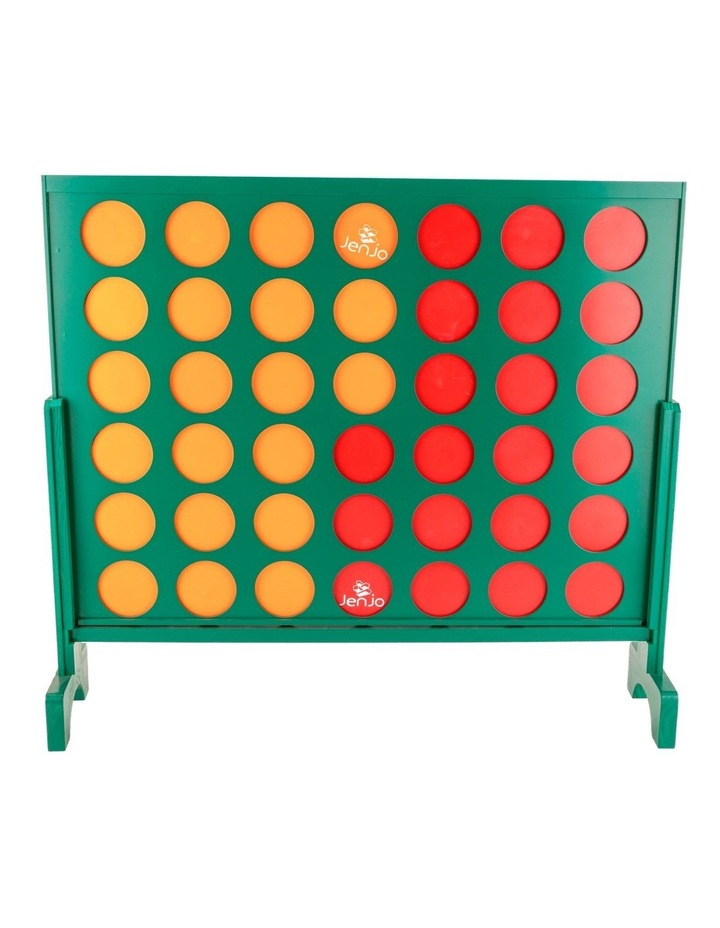 Wooden Indoor Outdoor Giant Connect Four In A Row Game Set 120x109cm Green image 2