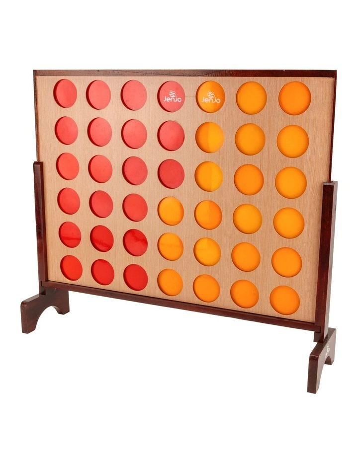 Hardwood Indoor Outdoor Giant Connect Four In A Row Game Set 120x109cm image 1