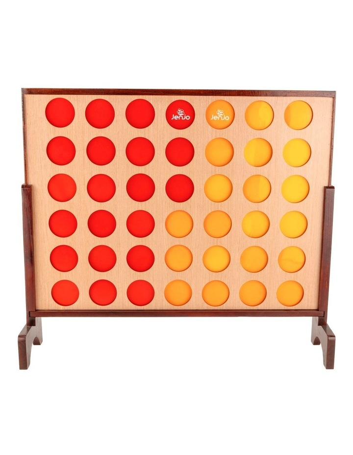 Hardwood Indoor Outdoor Giant Connect Four In A Row Game Set 120x109cm image 2