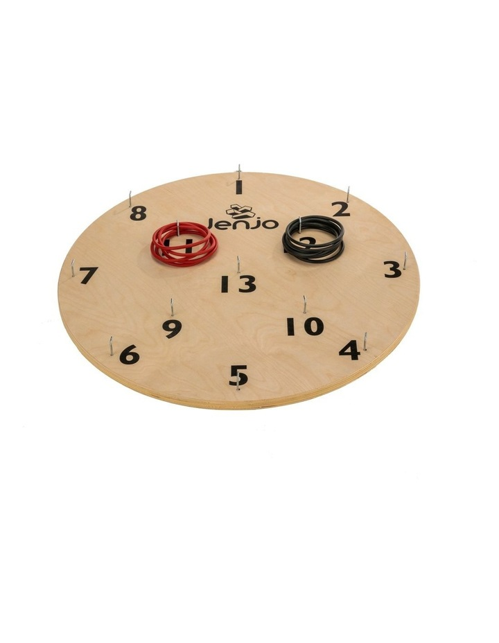 Wooden Giant Hookey Ring Board Lawn Game 68cm diameter image 1