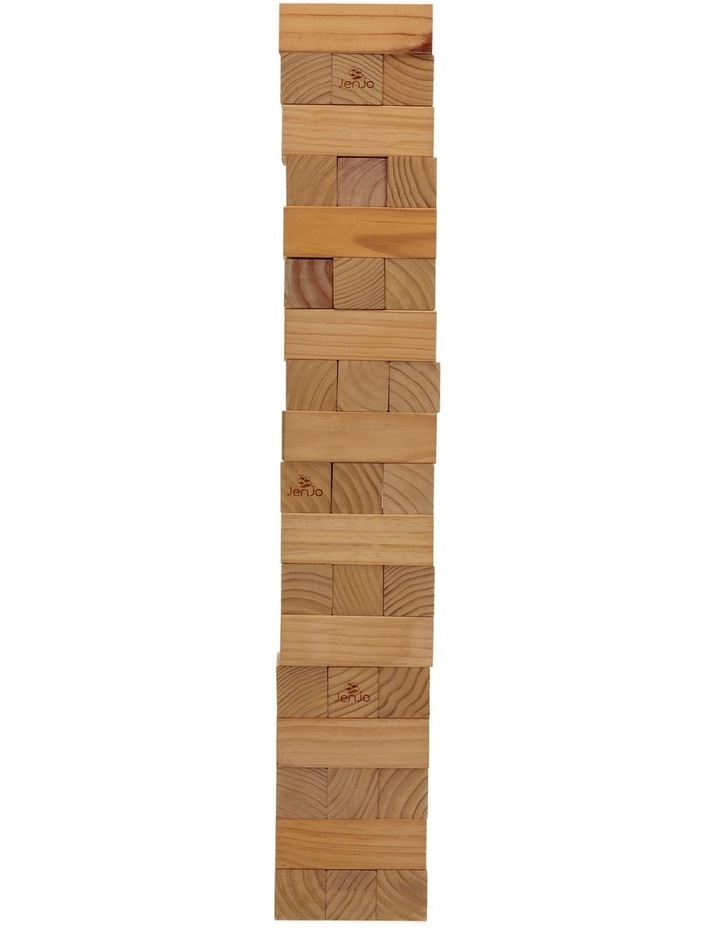 54 Piece Giant Jenga Outdoor Wood Block Game 127cm image 3