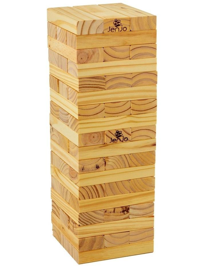 54 Piece Outdoor Giant Wooden Block Game 54cm image 1