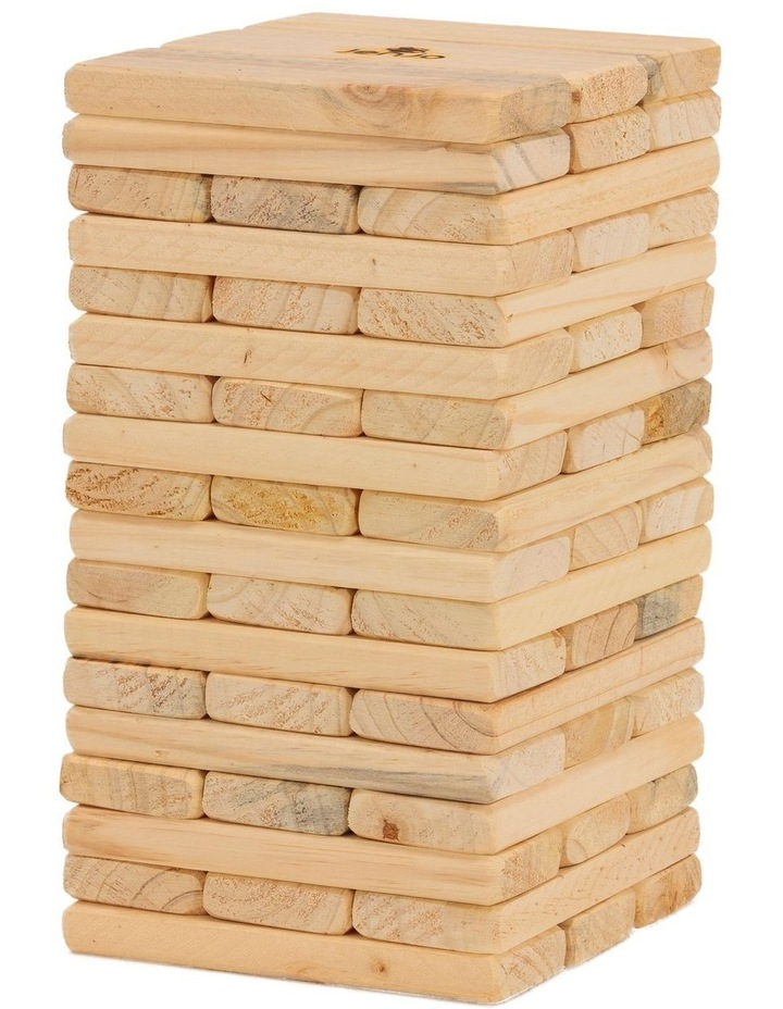 54 Piece Outdoor Giant Wooden Block Game 38cm image 1