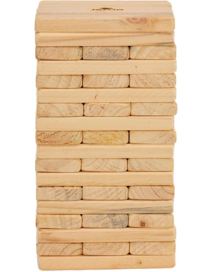 54 Piece Outdoor Giant Wooden Block Game 38cm image 2