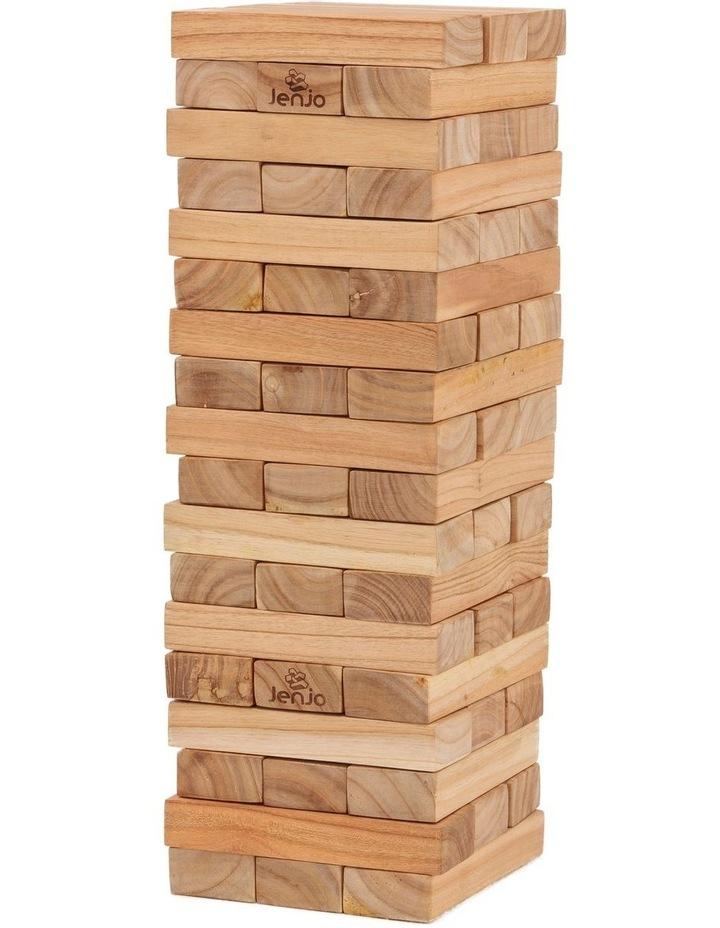 54 Piece Giant Outdoor Wooden Block Game 63cm image 1