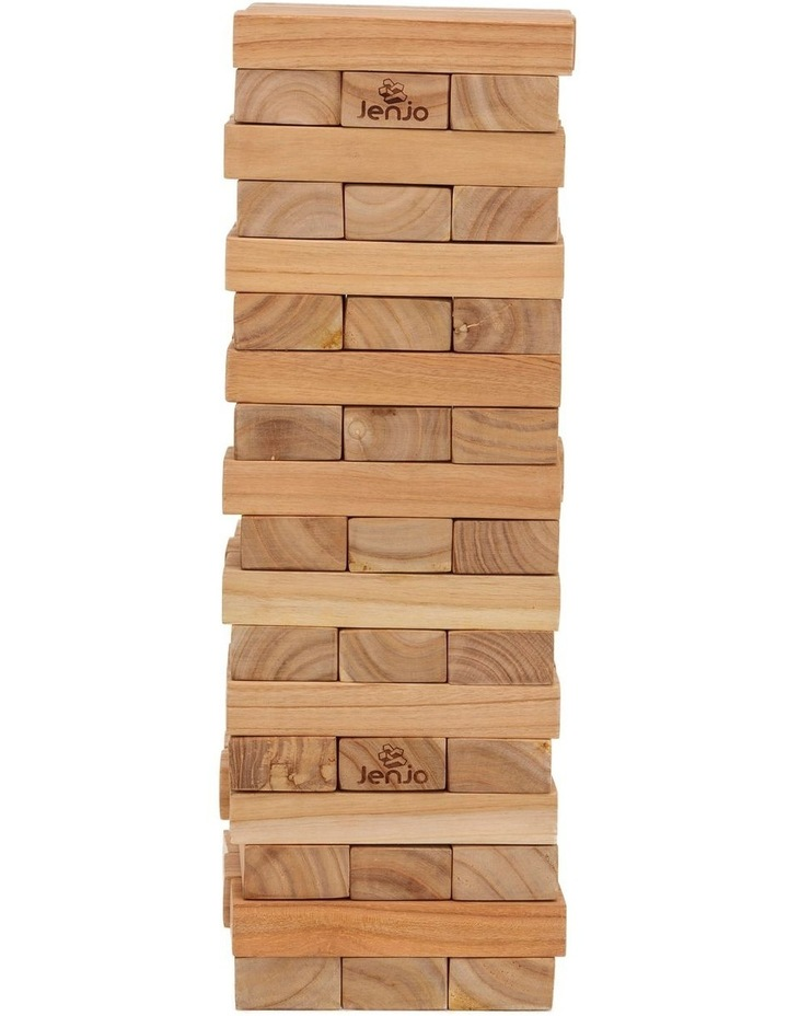 54 Piece Giant Outdoor Wooden Block Game 63cm image 2