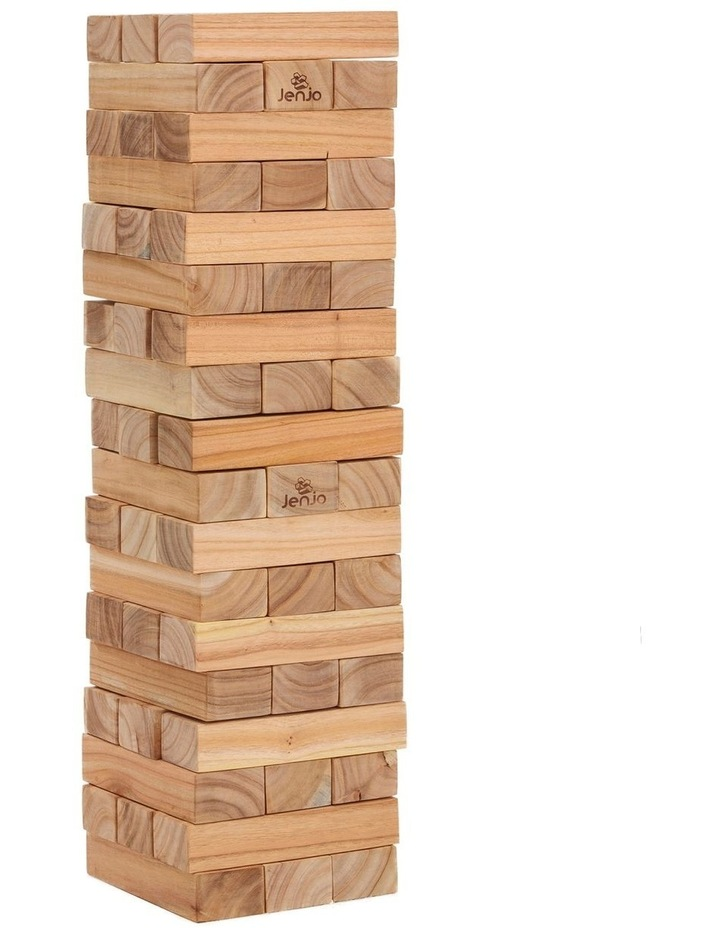 54 Piece Outdoor Giant Wooden Block Game 81cm image 1
