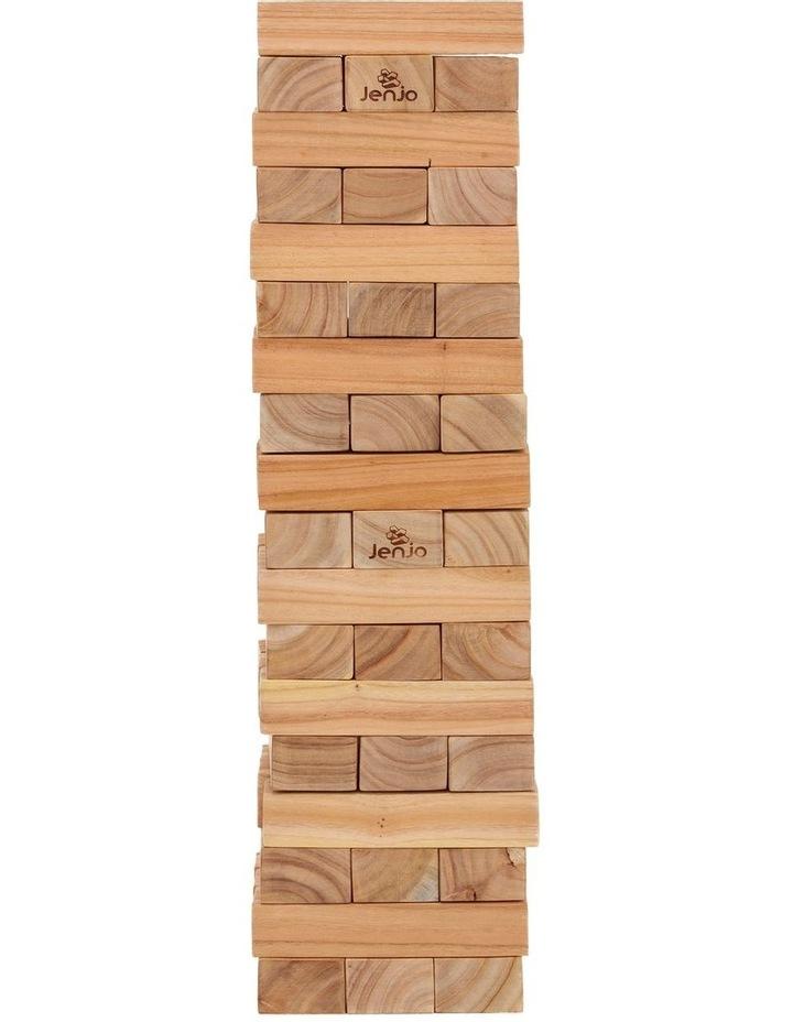 54 Piece Outdoor Giant Wooden Block Game 81cm image 2