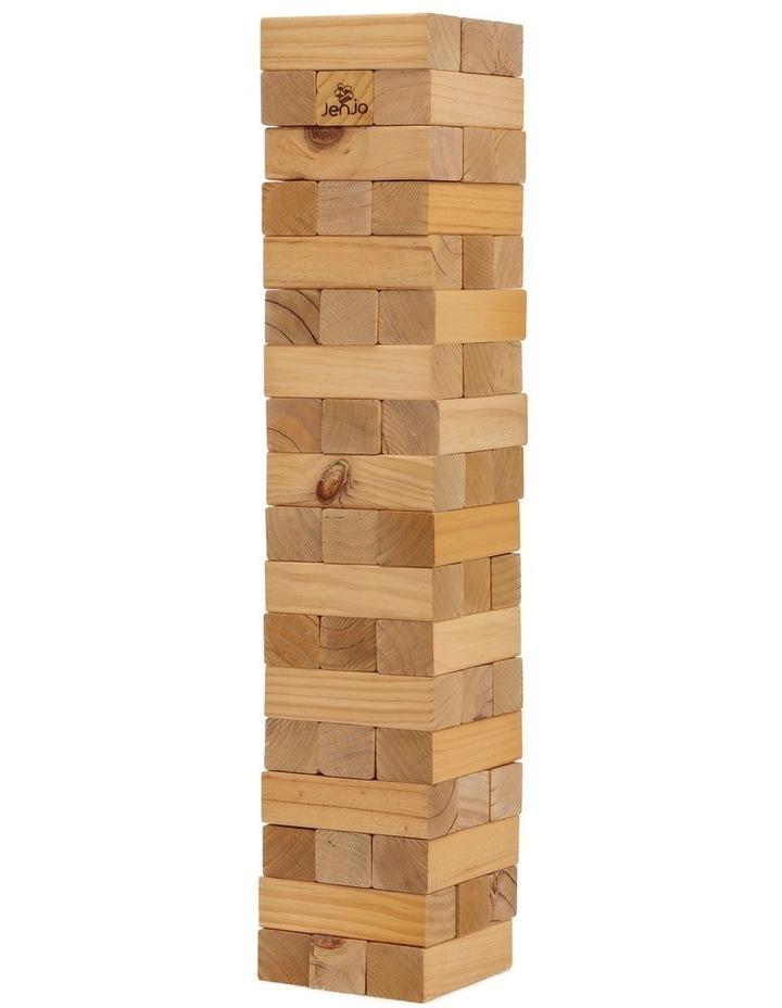 54 Piece Giant Outdoor Wooden Block Game 91cm image 2