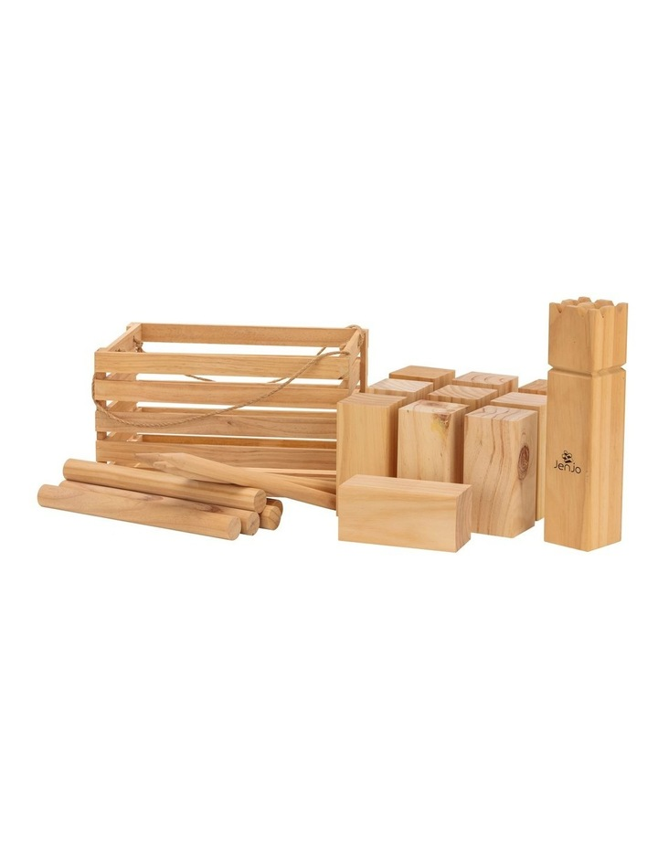 Outdoor Wooden Kubb Lawn Game Set image 1