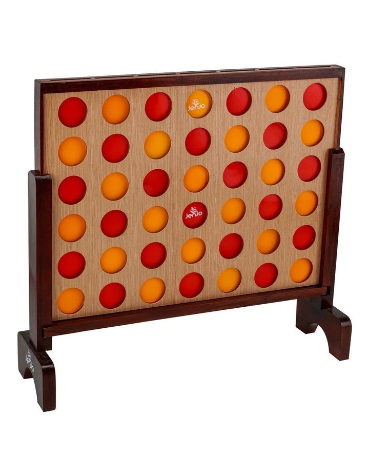 Mega Hardwood Connect Four In A Row Game Set 75x79cm image 1